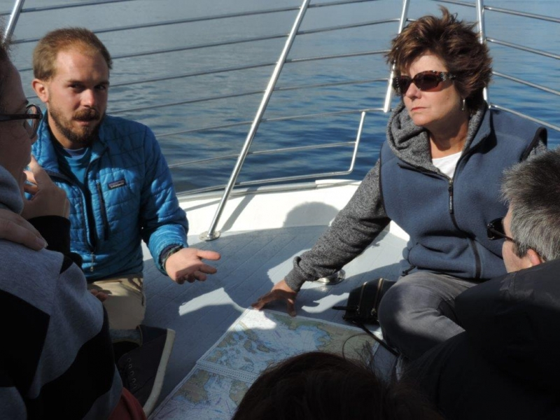 Whale Watch Naturalist with guest