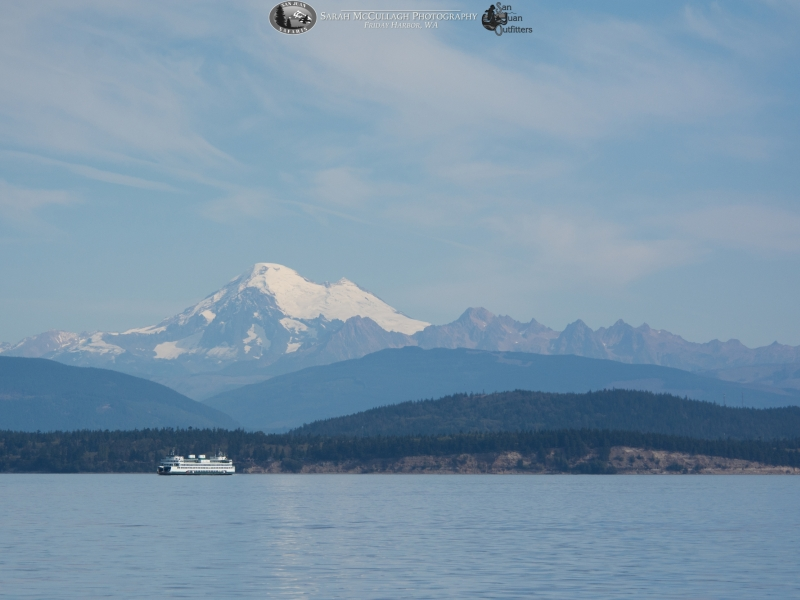 Mt. Baker and a Washington State Ferry