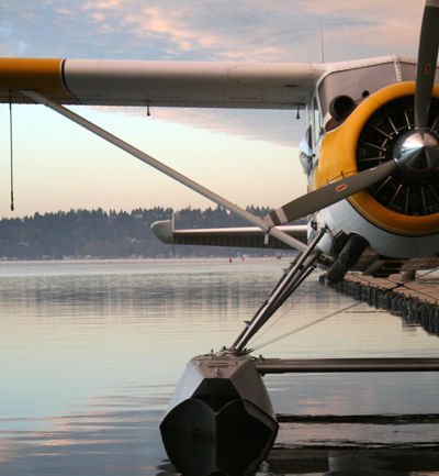 Kenmore Air seaplane at the dock