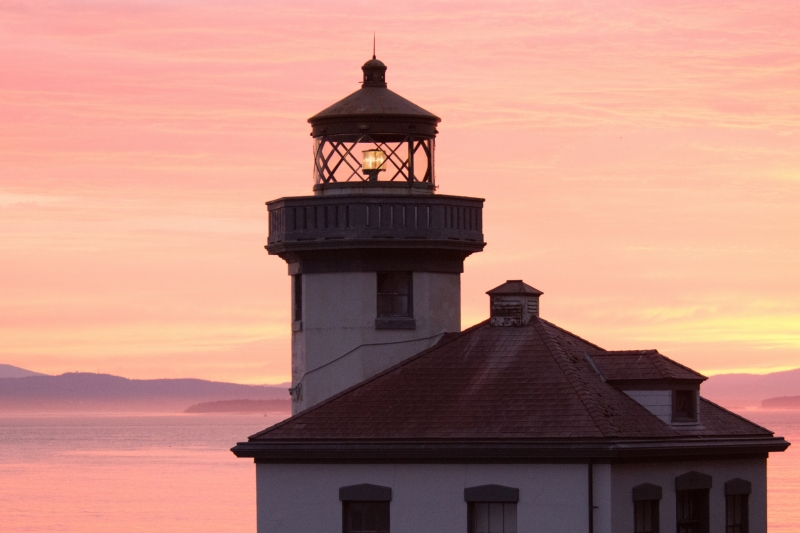 Lime Kiln Lighthouse at Sunset