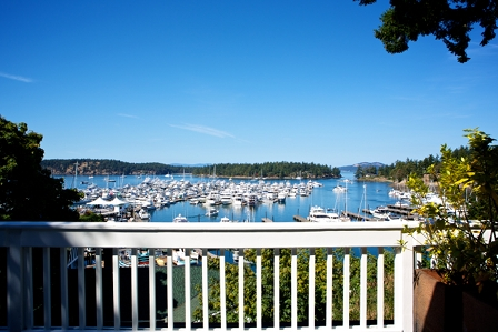 View of Roche Harbor from the resort on San Juan Island