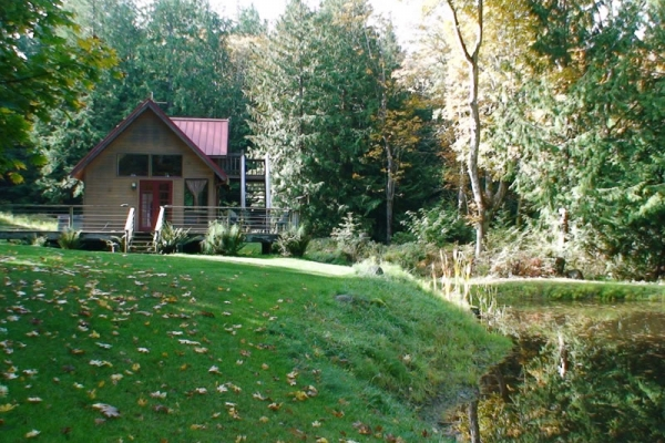 Very private, furnished cabin on acreage near Roche Harbor.
