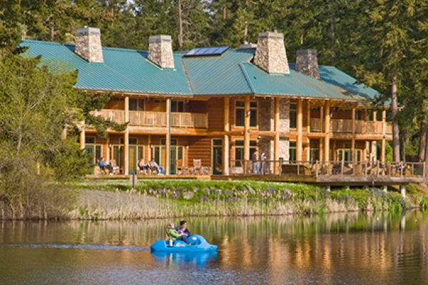 Lakedale Lodge overlooks the Three Lakes on their 82 acre resort property.